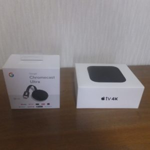 Chrome castとapple tv