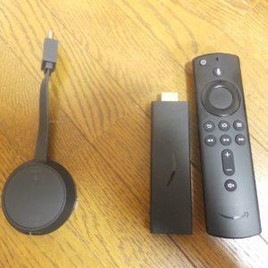 fire tv stickとChrome cast