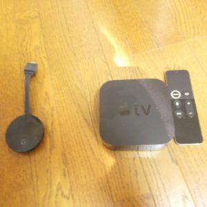 apple tvとchrome cast