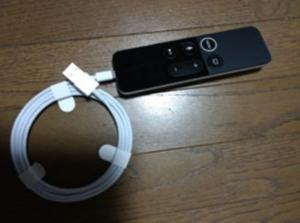 apple tv 4k リモコン 充電