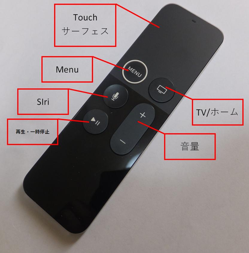 apple tv 4k リモコン 解説